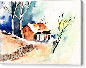 Weekend House Canvas Print by Anil Nene