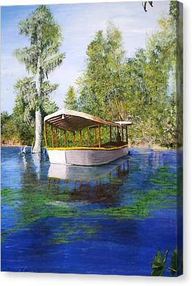 Weeki Wachee Springs Boat Canvas Print