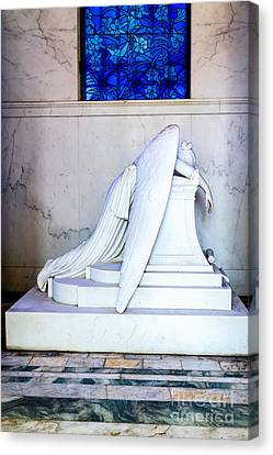 Metairie Cemetery Canvas Print - Weeping Angel, New Orleans 1 by Mary  Smyth