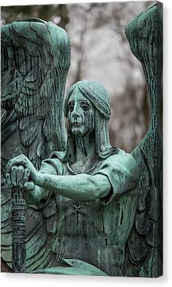 Headstones Canvas Print - Weeping Angel by Dale Kincaid
