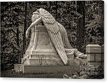 Weeping Angel - Sepia Canvas Print