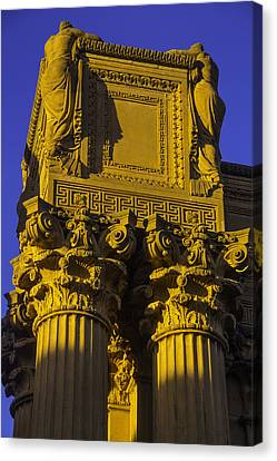 Weeping Females Palace Of Fine Arts Canvas Print by Garry Gay