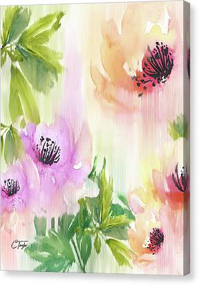 Canvas Print featuring the painting Weeping Rose Forest by Colleen Taylor