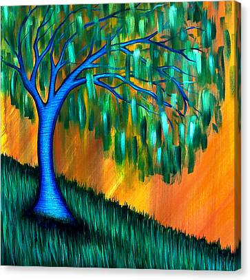 Weeping Willow Canvas Print by Brenda Higginson