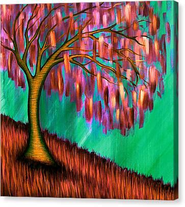 Weeping Willow IIi Canvas Print by Brenda Higginson
