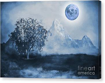 Weeping Willow Canvas Print by KaFra Art