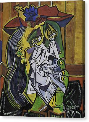Picasso's Weeping Woman Canvas Print