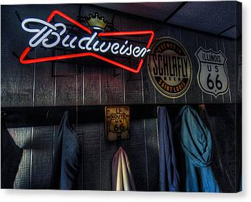 Weezys Route 66 Bar And Grill Canvas Print by Kevin Schuchmann