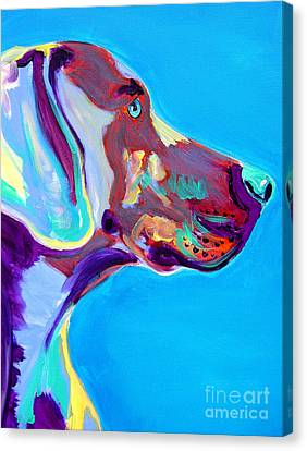Rainbow Canvas Print - Weimaraner - Blue by Alicia VanNoy Call