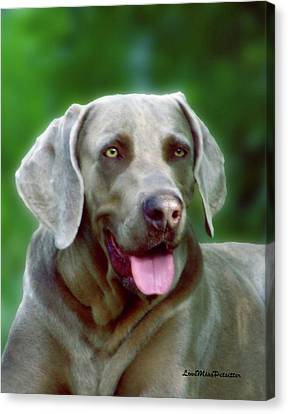Buy Dog Art Canvas Print - Weimaraner Art My Space by Miss Pet Sitter