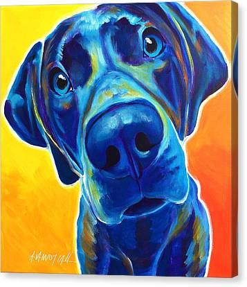 Weimaraner - Bentley Canvas Print by Alicia VanNoy Call