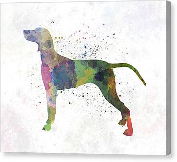 Weimaraner In Watercolor Canvas Print by Pablo Romero