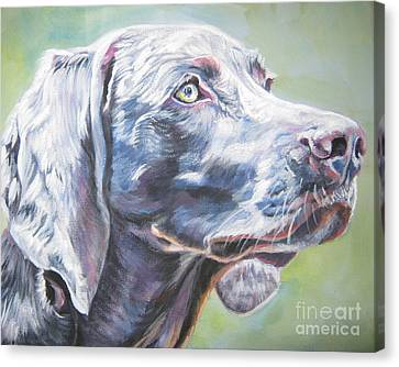 Weimaraner Canvas Print by Lee Ann Shepard