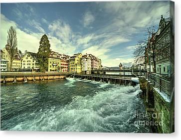 Weir Of Lucerne  Canvas Print by Rob Hawkins