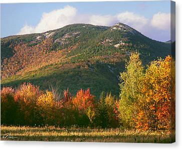 Welch And Dickey Mountains Canvas Print by Nancy Griswold