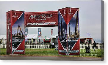 Sausalito Canvas Print - Welcome America's Cup by Chuck Kuhn