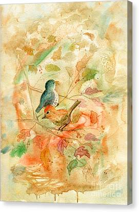 Wet On Wet Canvas Print - Welcome Autumn by Marilyn Smith
