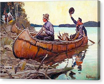 Welcome Back To Camp Canvas Print by Philip R Goodwin