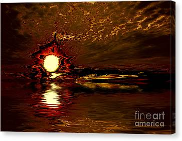 Welcome Beach Sunset 2 Series 1 Canvas Print by Elaine Hunter