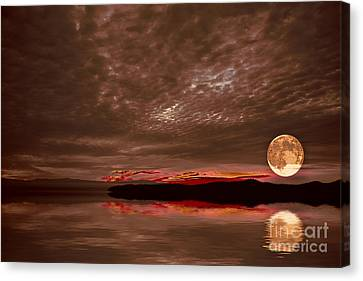 Welcome Beach Supermoon Canvas Print