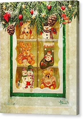 Buffet Canvas Print - Welcome Christmas by Angeles M Pomata
