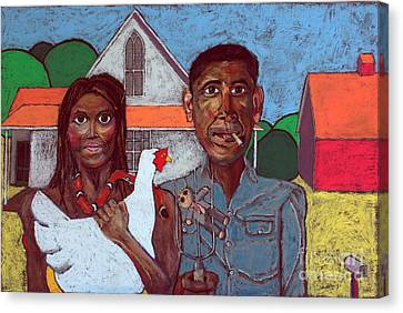 Michelle Obama Canvas Print - Welcome Home America by David Hinds