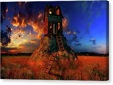 Hdr Landscape Canvas Print - Welcome Home by Geje De Groot