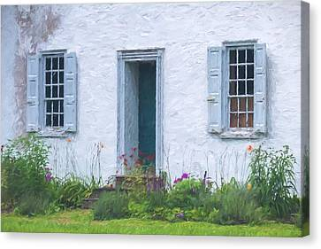 Welcome Home Old Door And Windows Canvas Print by Terry DeLuco