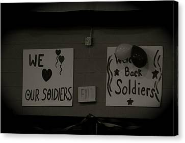 Welcome Home Soldiers Canvas Print by Aimee Galicia Torres