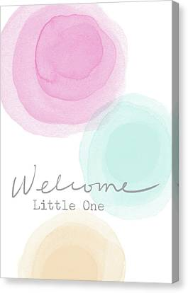 Welcome Little One- Art By Linda Woods Canvas Print by Linda Woods