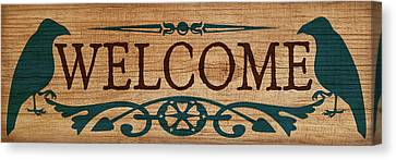 Welcome Sign Canvas Print by WB Johnston