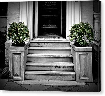 Front Steps Canvas Print - Welcome Steps by Perry Webster