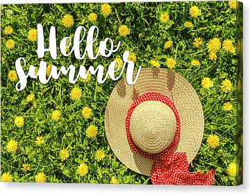 Canvas Print featuring the photograph Welcome Summer by Teri Virbickis