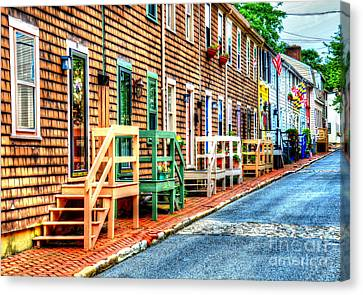 Welcome To Annapolis Canvas Print by Debbi Granruth