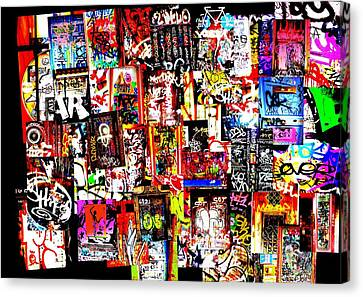 Welcome To Barcelona Graffiti Nirvana Canvas Print by Funkpix Photo Hunter