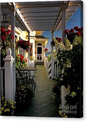 Welcome To Bay View Inn On Mackinac Island Canvas Print