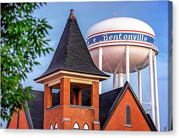 Welcome To Bentonville Arkansas Canvas Print by Gregory Ballos