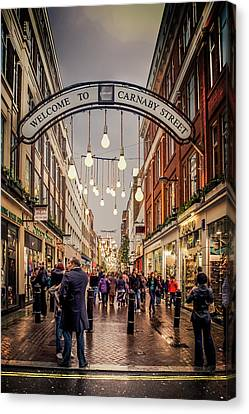 Welcome To Carnaby Street London Canvas Print by Alex Saunders