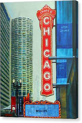 Welcome To Chicago Canvas Print