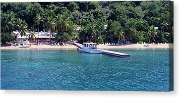 Welcome To Cooper Island Canvas Print by Ginger Howland