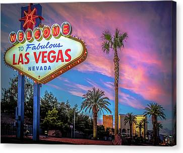 Welcome To Las Vegas Canvas Print by Mark Dunton