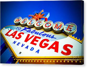 Welcome To Las Vegas Sign Canvas Print by Amy Cicconi