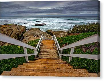 Welcome To My Beach Canvas Print by Peter Tellone