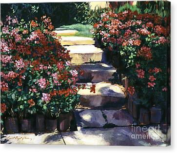 Welcome To My Garden Canvas Print by David Lloyd Glover