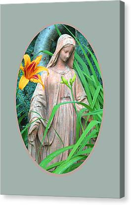 Peace Be With You - Images From The Garden Canvas Print