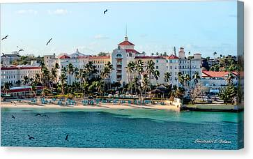 Welcome To Nassau Canvas Print by Christopher Holmes