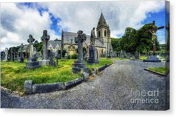 Headstones Canvas Print - Welcome To Our Church by Ian Mitchell