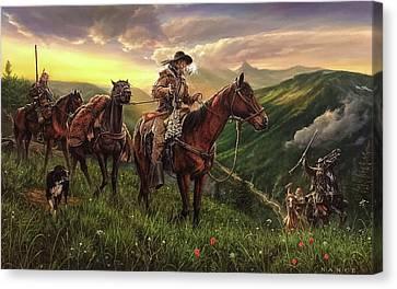 Mountain Men Canvas Print - Welcome To Rendevous by Dan Nance