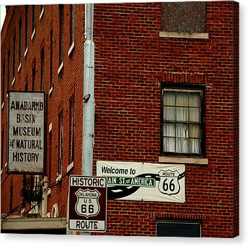 Welcome To The Main Street Of America Canvas Print by Susanne Van Hulst
