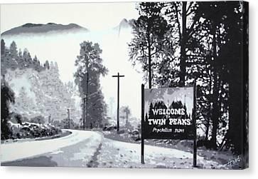 Donna Hayward Canvas Print - Welcome To Twin Peaks by Hood alias Ludzska